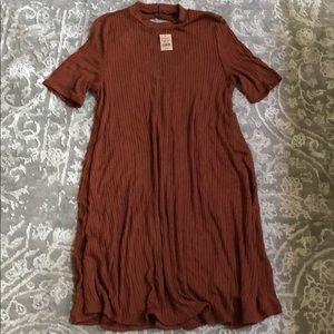 American eagle dark orange shift dress